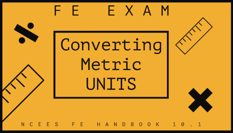 FE Exam Review – Converting Metric Units