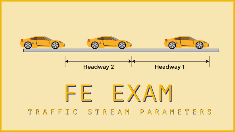 FE Exam Review – Transportation Engineering – Traffic Stream Parameters